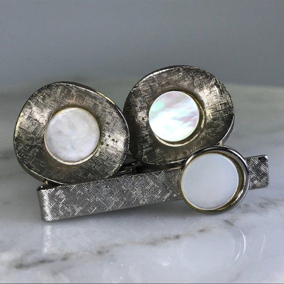 Vintage Mother Of Pearl Cufflinks And