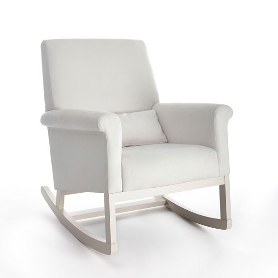 Rocking Chair Design, Solid Pad White Rocking Chair Nursery Modern  Decorating Room Perfect Finishing Sample