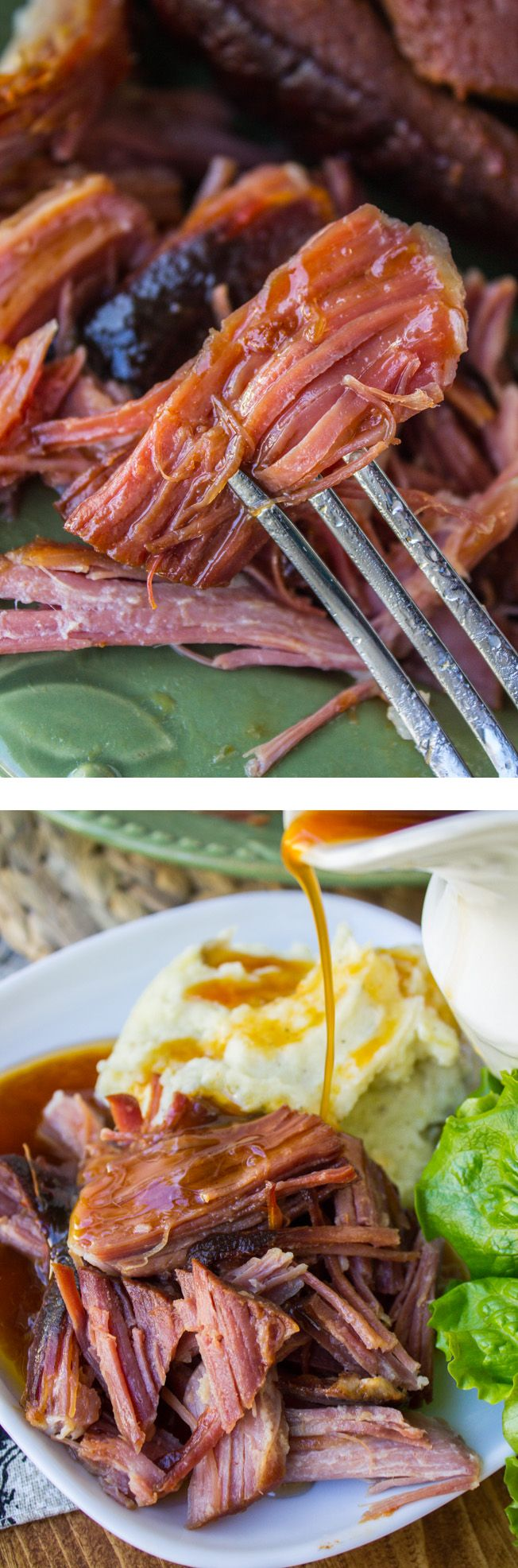 Easy Sriracha Ham (Slow Cooker) // The Food Charlatan. This 3 ingredient ham is so easy and melts in your mouth! Perfect for Easter, when you need your oven for side dishes.