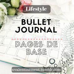 Pages de base, indispensables  1) L'index : L'index est la pièce maîtresse de votre Bullet Journal. Il est placé en début de cahier (lui réserver plusieurs feuilles). C'est lui qui permettra de retrouver rapidement...