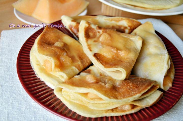 Clatite pufoase cu pepene galben 1