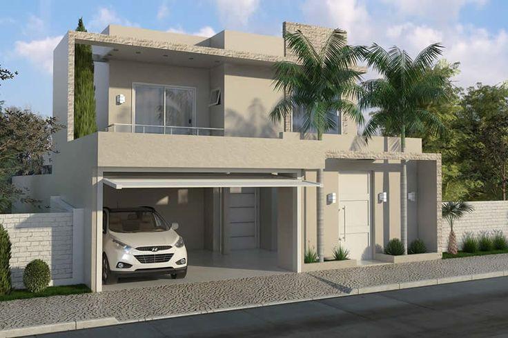 Adosado con 4 dormitorios ideas construcci n pinterest for Fachadas de casas modernas en queretaro