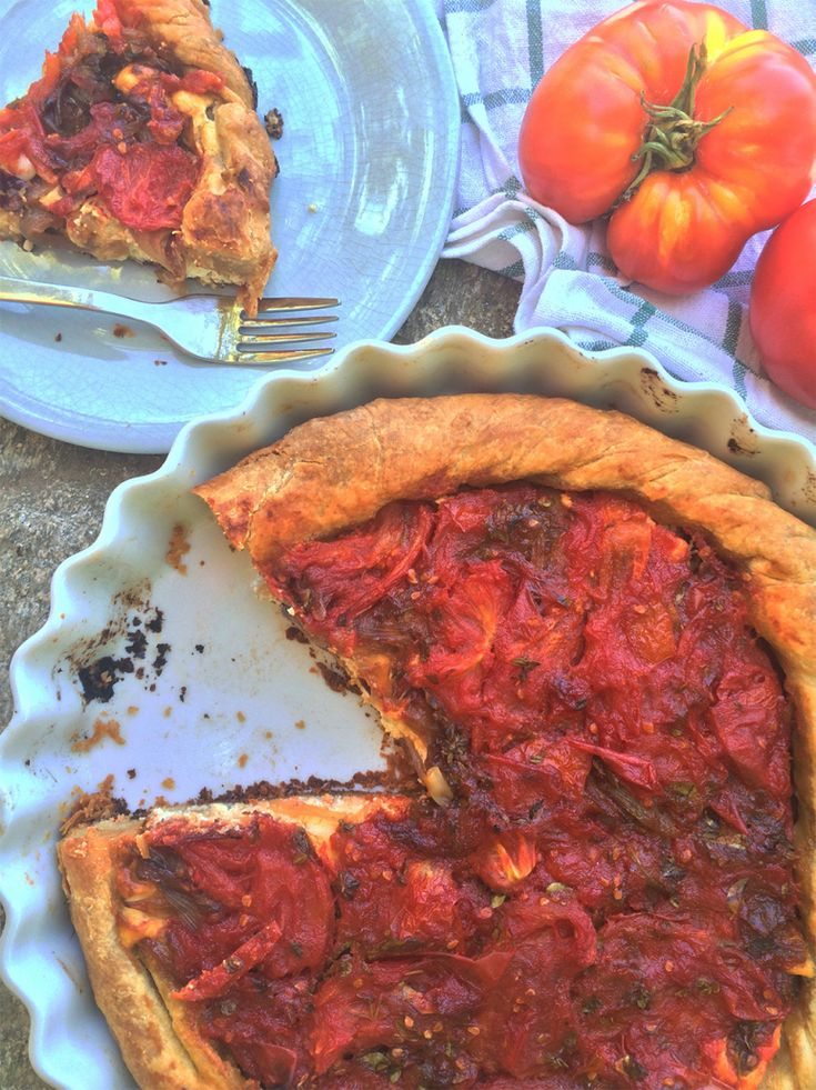 20 best greek summer recipes images on pinterest greek recipes sweet and savory tomato tart with feta and onions greek food greek cooking forumfinder Images