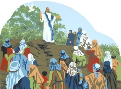 Sermon On The Mount - Matthew 5:1-12 | The Cat's Meow Village / Bible Story included on the back