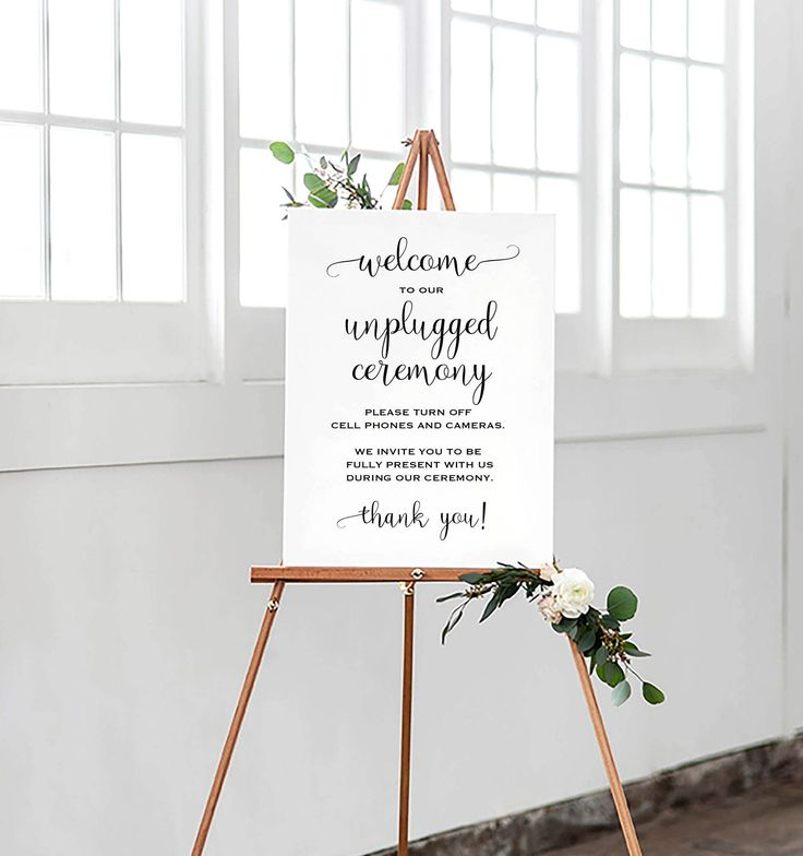 Printable Wedding Sign, Unplugged Wedding Sign, Minimalist Wedding Sign, Unplugged Ceremony Sign, Calligraphy Sign, Modern Wedding Sign by MarisaCarolineDesign on Etsy https://www.etsy.com/listing/540008225/printable-wedding-sign-unplugged-wedding