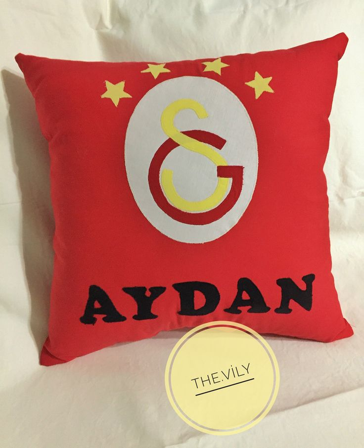 Galatasaray gs applique pillow