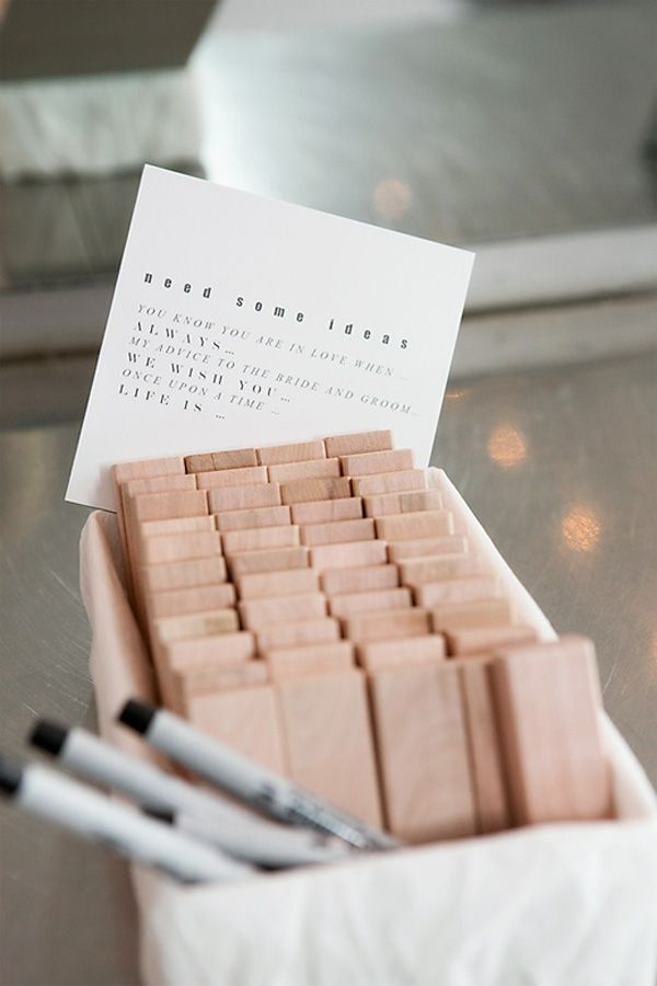 jenga wedding guestbook brides of adelaide magazine