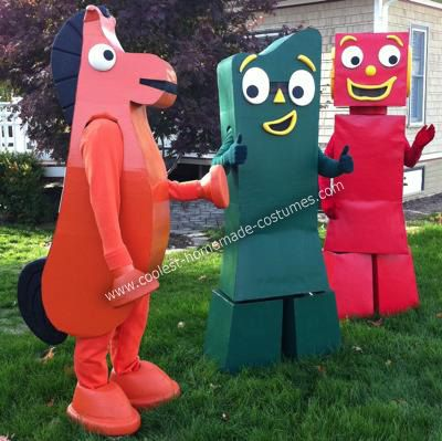 DIY Gumby Adventures Group Halloween Costume Idea: It's Halloween time again and that means many hours in a small garage being covered in little bits of foam.  This year we decided to bring to life a childhood