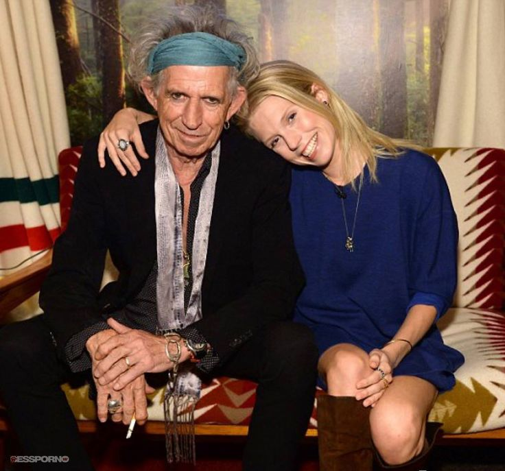 Keith Richards with his daughter Theodora