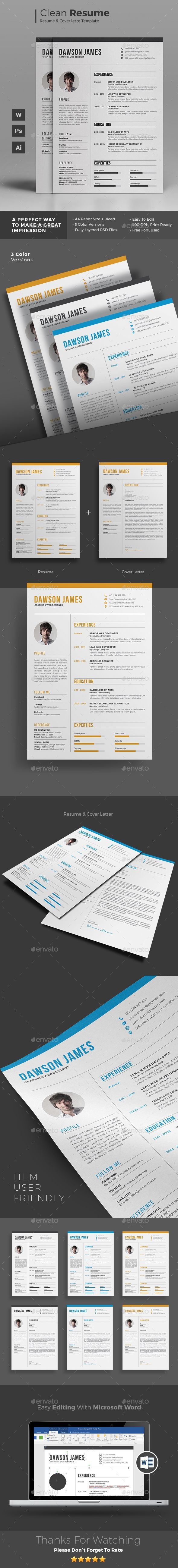 Resume Pdf Or Word Download%0A Resume Template PSD  AI Illustrator  MS Word  Download here  https