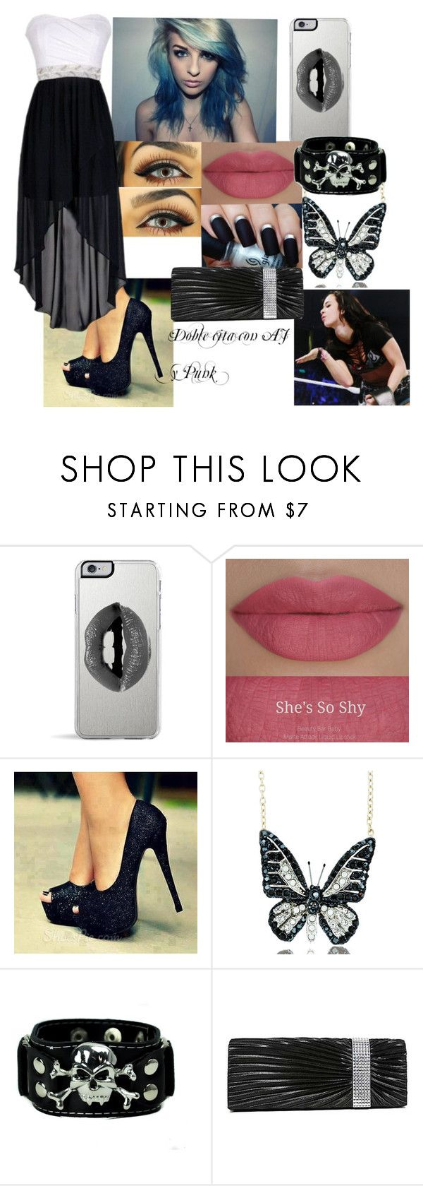 """Doble cita con AJ y Punk + color de pelo nuevo"" by rampaige12 ❤ liked on Polyvore featuring Lipsy, She's So and Andrew Hamilton Crawford"