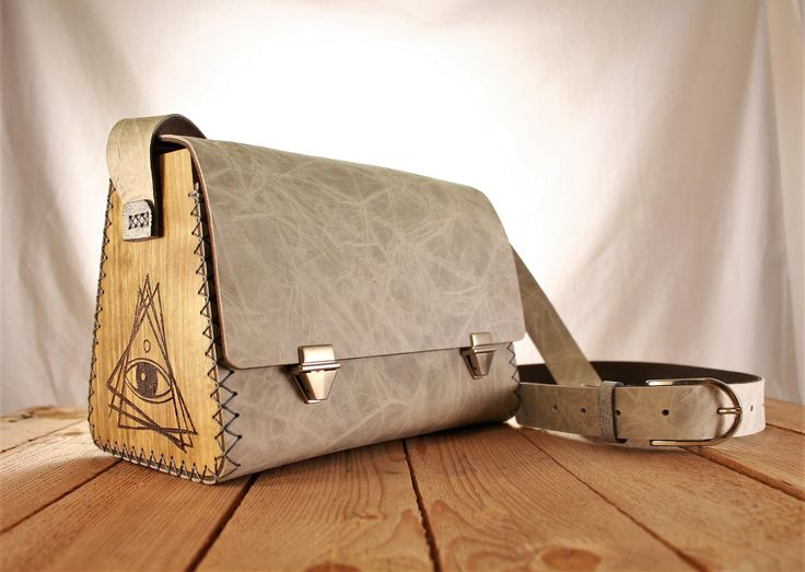 Excited to share the latest addition to my #etsy shop: Gray Wood Leather Bag All seeing Eye | Shoulder Bag | Gift for her | Women's bag | Leather Purse | Unique | Laser Engraved http://etsy.me/2C4LX3m #bagsandpurses #gray #woodleatherbag #leatherbag #custommade #leathe