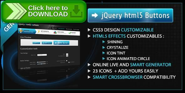 [ThemeForest]Free nulled download jQuery Html5 Buttons from http://zippyfile.download/f.php?id=47050 Tags: ecommerce, animated buttons, button generator, buttons creator, buttons effects, canvas button, css3 buttons, gradient buttons, html5 buttons, icon buttons, jhb, jquery buttons, jquery buttons generator, shine, shining