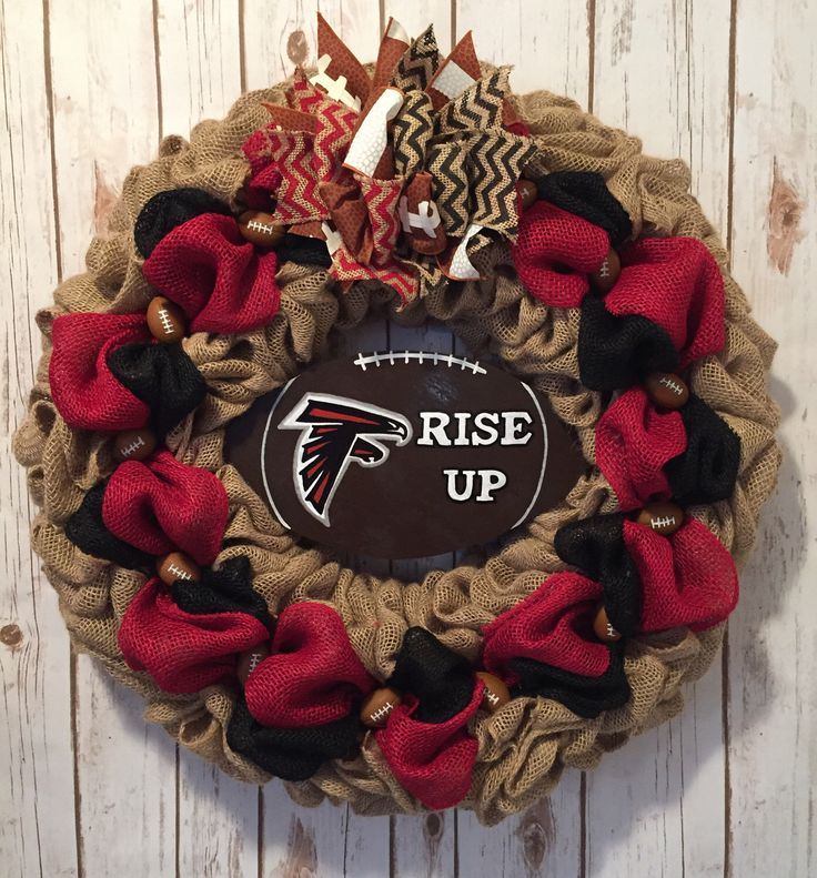 A personal favorite from my Etsy shop https://www.etsy.com/listing/508245813/atlanta-falcons-atlanta-falcons-wreath