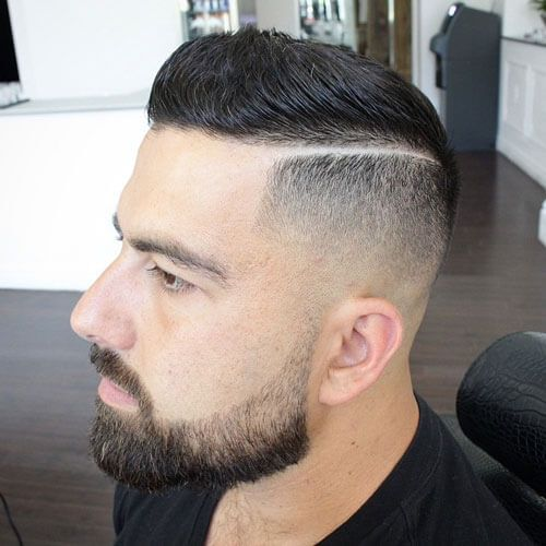Brush Up with Hard Part and Bald Fade