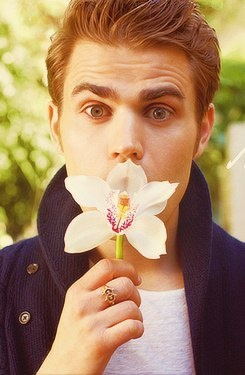 Two of my favorite things...Paul Wesley and flowers :)