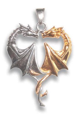 #Dragon #Heart for Lasting #Love - In a loving, heart-shaped embrace, the subtle magic of Golden Dragon merges with the protection offered by Silver Dragon, and they become as one perfect being.