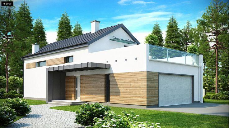 Zx60 to atrakcyjny dom jednorodzinny o nowatorskim charakterze i funkcjonalnych rozwiązaniach. Tradycyjna forma z dwuspadowym dachem została wzbogacona o modernistyczne detale.
