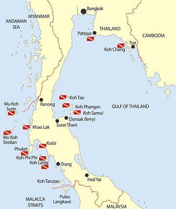 Map Of Thailand Islands South Map of Thai Islands | Ko Phi Phi and Ko Samui: Well Trodden Thai