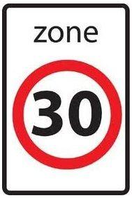 Zone 30 ter afremming van het verkeer