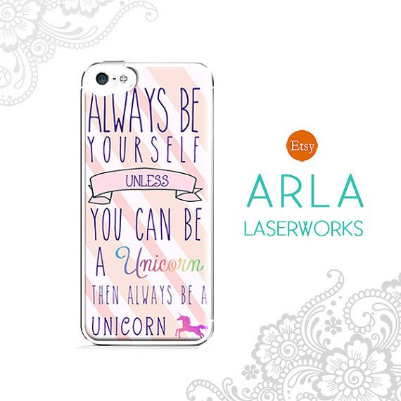 """Be Yourself Quotes Cute: Pink Unicorn Quote """"Always Be Yourself; Unless You Can Be"""