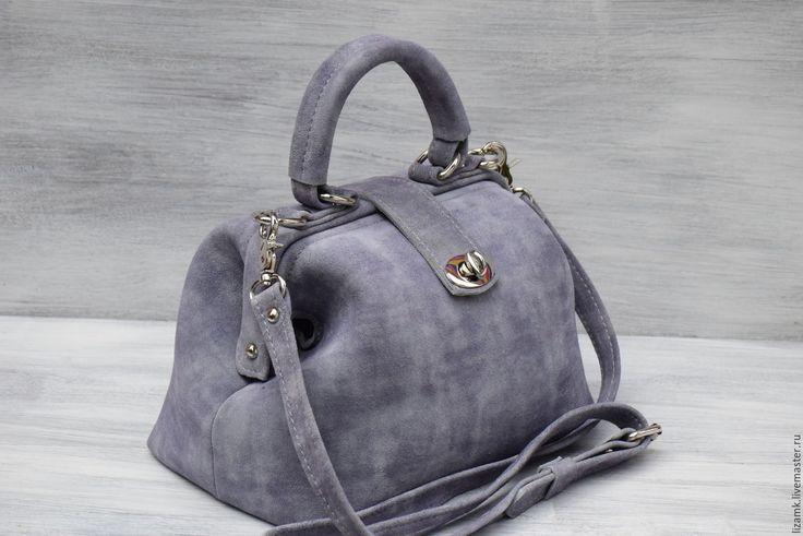 Купить Саквояж-Серенький .... - серый, однотонный, сумка ручной работы, сумка, сумка женская