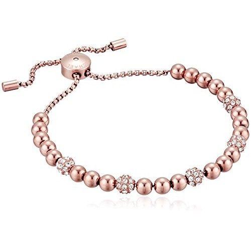 """Michael Kors """"Blush Rush"""" Rose Gold-Tone Bead Bangle Bracelet"""
