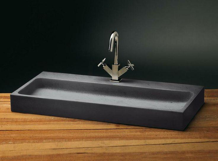 Wasbak hout badkamer - Wastafel rechthoekig badkamer ...