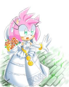 Amys Getting Married Who Do Yall Think Her Husband Is I Say Its Sonic And Shes Wearing The Lady Of Lake Dress From Black Knight