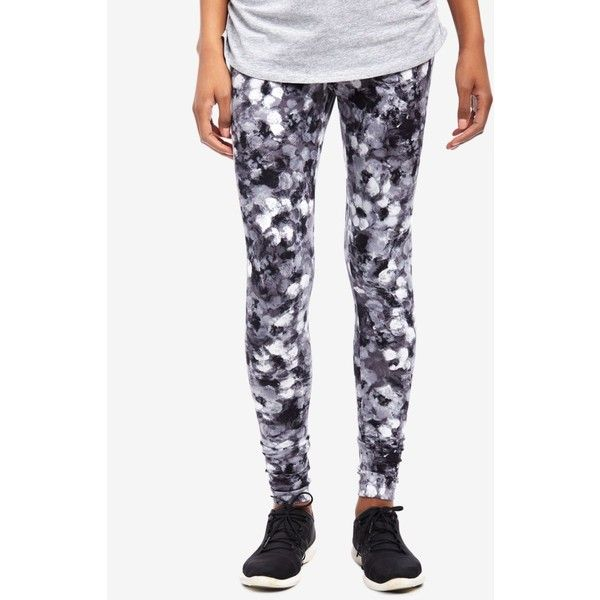 Motherhood Maternity Printed Leggings (£17) ❤ liked on Polyvore featuring pants, leggings, white stretchy pants, print pants, white legging pants, white leggings and stretch trousers