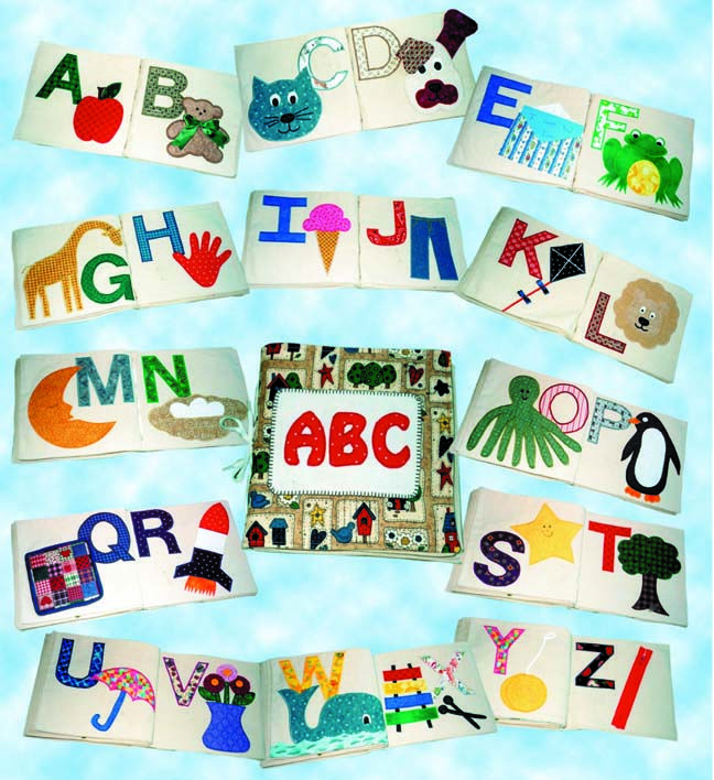 Easy Fabric Book Cover Patterns ~ Alphabet take along book printed pattern my next big