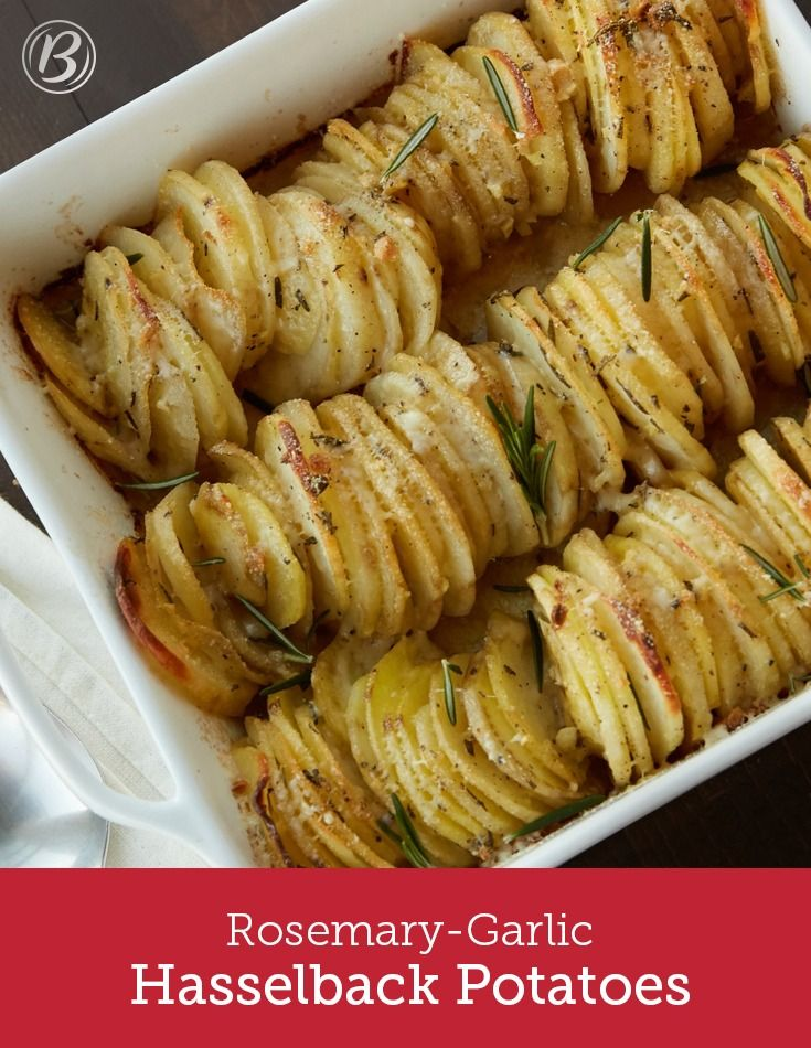 This impressive-but-easy dish will fill your kitchen with the enticing scents of rosemary and garlic. It's the perfect way to upgrade your potatoes! For best results, try to use potatoes that are of equal size and dimension. When stacking the potato slices, it is not necessary to make the stacks precise. The slight unevenness of the stacks is what gives this potato dish its impressive presentation.