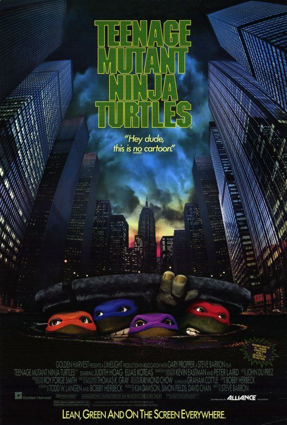 Teenage Mutant Ninja Turtles: The Movie POSTER 27x40 Judith Hoag Elias Koteas