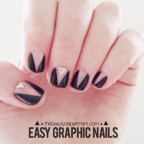 DIY Graphic Nail Art Tutorial from The Beauty Department today.