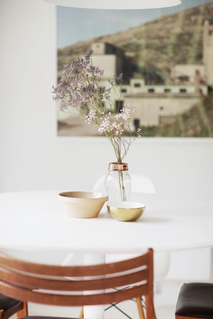 Ingrid Holm Blog - gold bowl, mason jar vase, copper, Scandinavian Home
