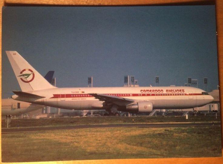 #Postcard #Cameroon Airlines Africa Boeing 767 Plane Paris OKC Czech 2001 Unused