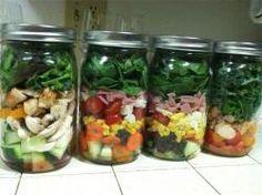 Ensaladas en frasco: Algunas recetas saludables para llevar al trabajo - Alimentación