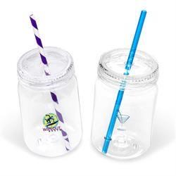 Drinking Jars with Straw