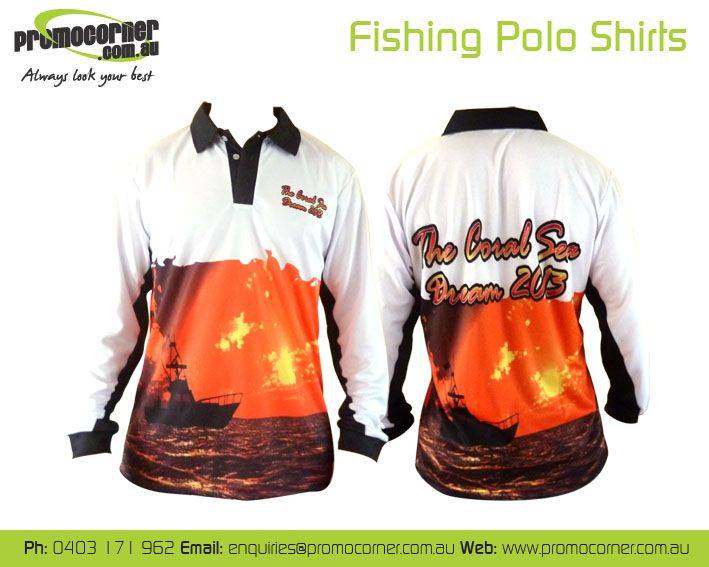 Coral Dream Tournament Fishing Shirts!   Call 0408 783 063 or e- enquiries@promocorner.com.au for more info. #fishingshirts