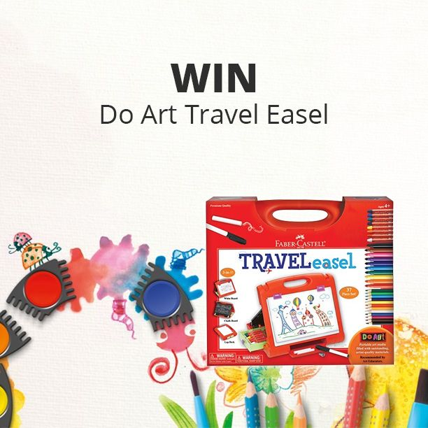 Enter to win 1 of 4 travel art kits with 37+ pieces! The kids will love this one!