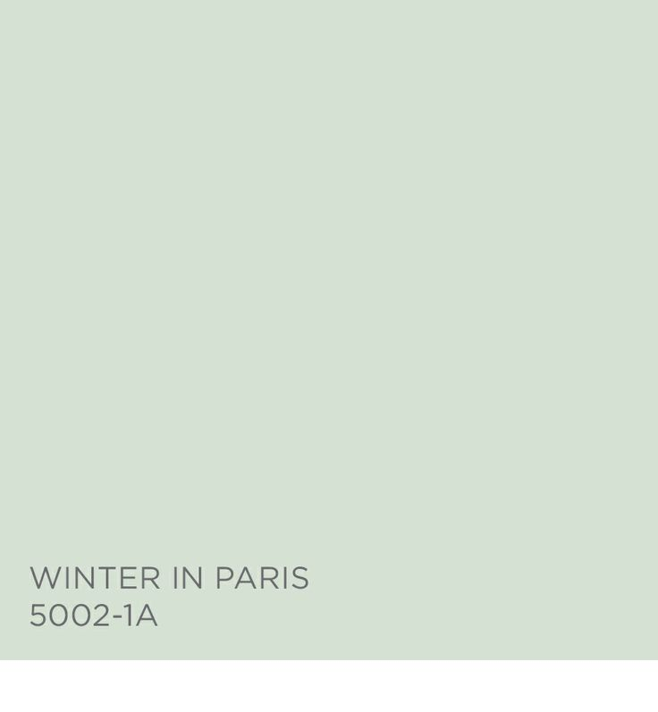 Winter Paint Colors: Winter In Paris 5002-1A From The Zenergy Palette.