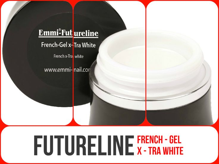#EmmiNail #Futureline #FrenchGelXtraWhite