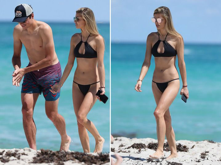 Tennis Star Milos Raonic Warms Up for Tourney ... With Smokin' Hot Model GF (PHOTOS)