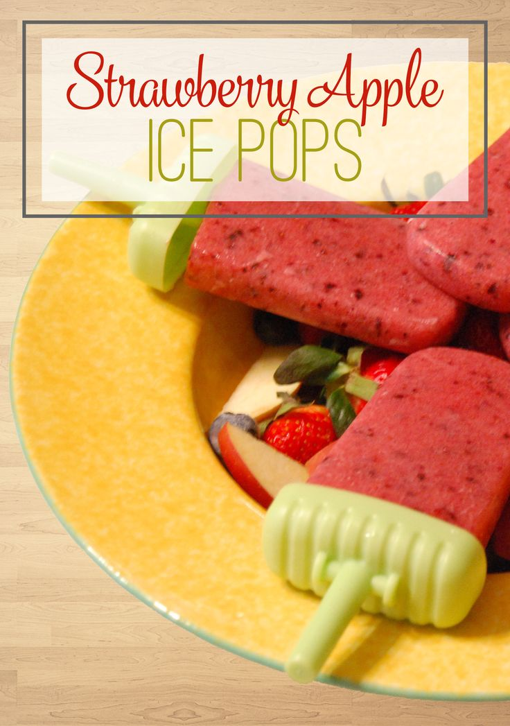 These Healthy Strawberry Apple Ice Pops are the perfect treat any time of day! This recipe is made with only fruit and no added sugar, and is a healthier alternative to Popsicles and ice cream, perfect for those of us who are trying to trim down for summer swim suits! Strawberries and apples are a yummy combination for this delicious treat, and instead of sugar, we've just added more fruit! This easy recipe will have you in and out of the kitchen in minutes, and you will love the flavor of…