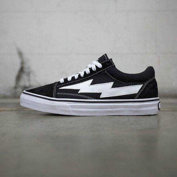 5c1ccdbe73 REVENGE x Storm Vans Old Skool Lightning Low Black Skateboard Shoe Vans For  Sale  Vans