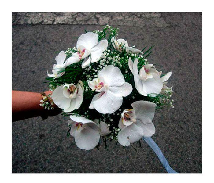 Resultado de imagen de ramos de novia orquideas redondo