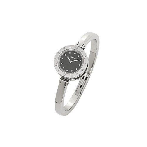 bvlgari bzero1 black dial stainless steel bangle bracelet ladies watch