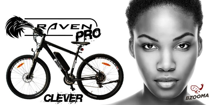 Bzooma 'Raven PRO' Raven, a mountain bike with tough, all terrain suspension suiting sport and recreation.
