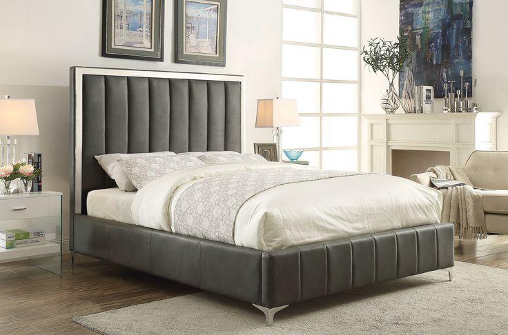 Modern Bling Game Collection Q Queen Bed Frame Simple - Elegant coaster bedroom furniture New Design