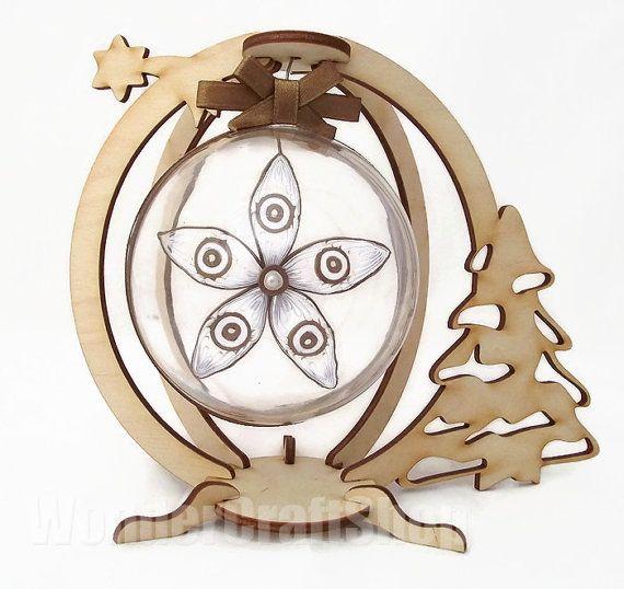 custom christmas ornament brown decoration by WonderCraftShop